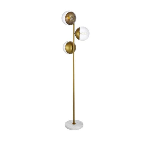 3-Light Floor Lamp with Clear Glass