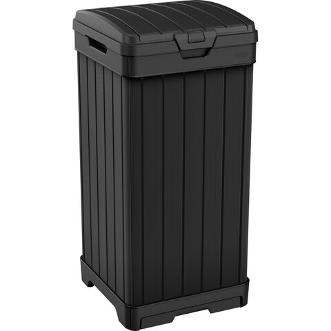 Keter Baltimore 39 Gallon Plastic Resin Outdoor Trash Can