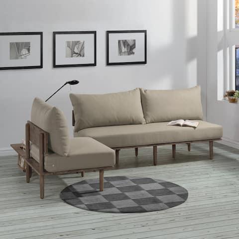 Handy Living Fundamentals 3 Piece Barley Tan Linen Living Room Set