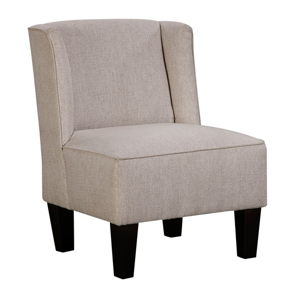 Chapter 3 Charlie Beige Modern Armless Winged Slipper Chair