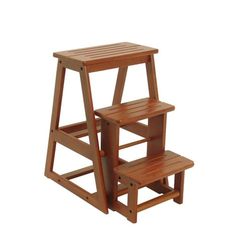 3 Tier Step Stool In Cherry Finish