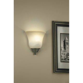 Traditional 1-light Iron Stone Wall Sconce