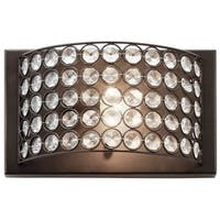Eclectic 1-light Olde Bronze Wall Sconce