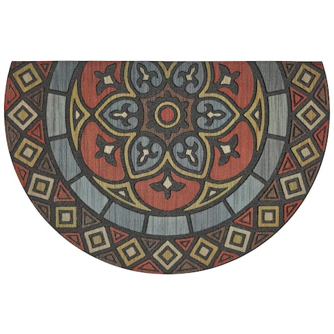 "Mohawk Doorscapes Estate Venetian Slice Door Mat (1' 11 x 2'11) - 1'11"" x 2'11"""