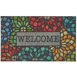 "Mohawk Doorscapes Welcome Stained Glass Door Mat (1'6 x 2'6) - 1' 6""x2' 6"""