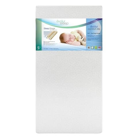 "Evolur Sleep Breathable Dual Stage Comfort-Lite 5"" Foam Mattress"