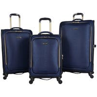 Aimee Kestenberg Parker 3-Piece Lightweight Jacquard Expandable Spinner Luggage Set