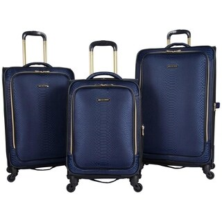 Aimee Kestenberg Parker 3-Piece Lightweight Jacquard Expandable Spinner Luggage Set