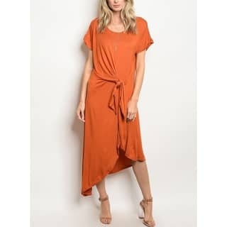 c88df5fd5b8 JED Women s Drapey Front Knot Midi Dress