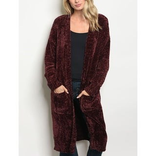 JED Women's Plush Oversized Long Cardigan with Pockets