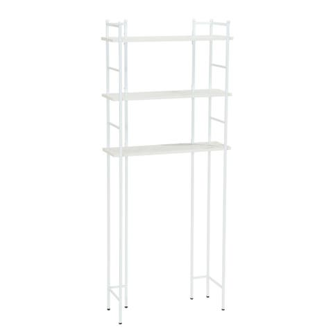 Household Essentials Over-the-Toilet 3 Shelf Rack, Marble