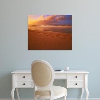 Easy Art Prints Charles Gurche's 'Sunset At Dt Fleming State Beach' Premium Canvas Art