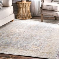 nuLOOM Traditional Vintage Ornamental Geometric Mykonos Border Area Rug
