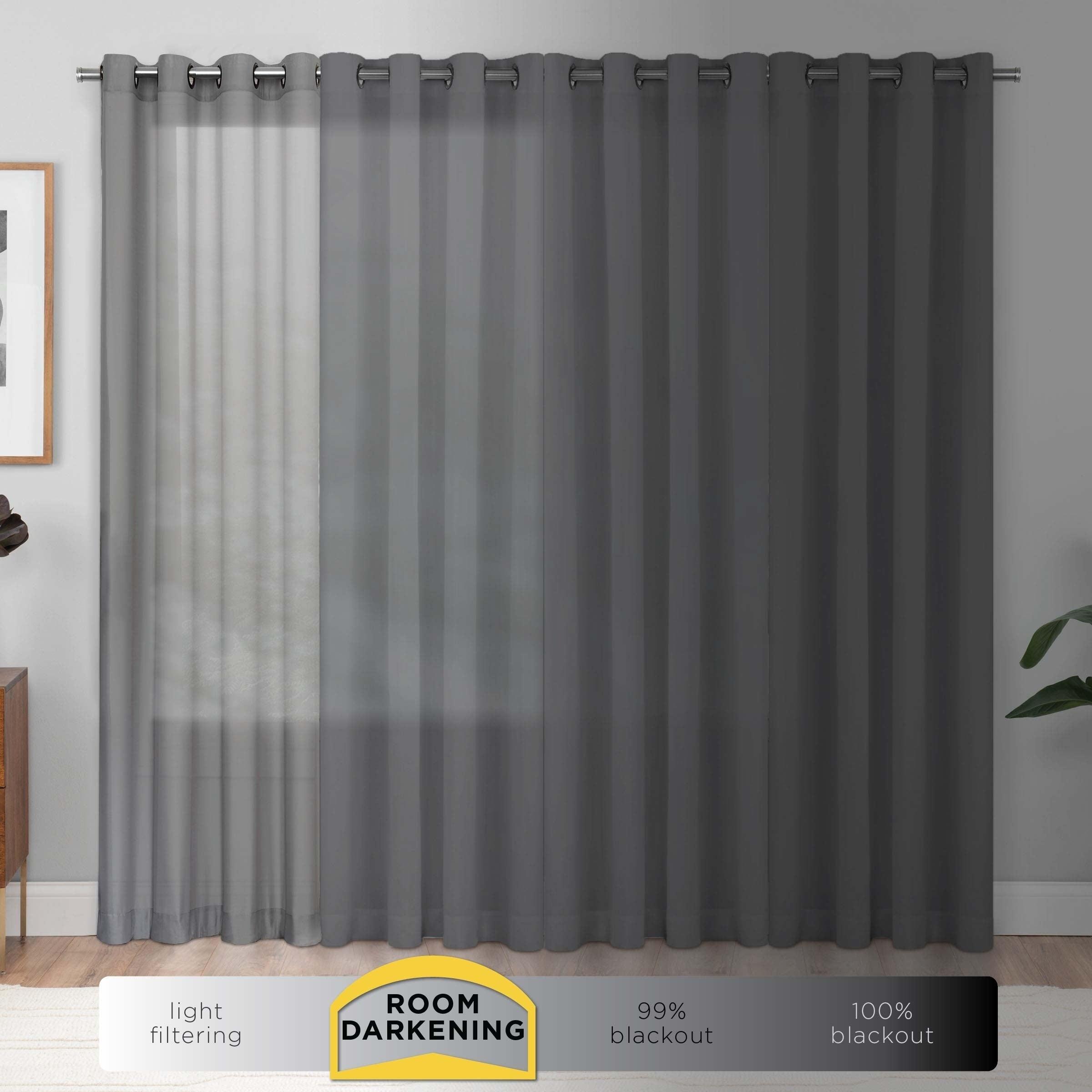 Black Room Darkening Curtains.Eclipse Wavy Chevron Room Darkening Curtain Panel