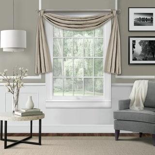 Elrene Leila Matelasse Beaded Window Valance