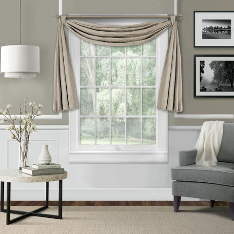 Elrene Leila Matelasse Beaded Window Valance