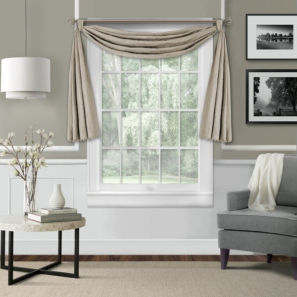 Leila Single Window Scarf Valance