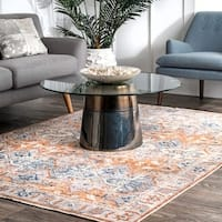 "nuLOOM Orange Transitional Persian Katia Florid Frame Tassel Area Rug - 5'3"" x 7'7"""