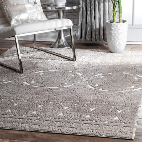 nuLOOM Traditional Victorian Mary Damask Royal Print Area Rug