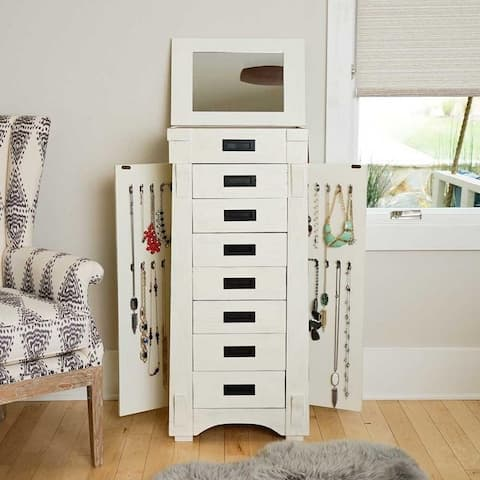 Hives & Honey Mission White Jewelry Armoire