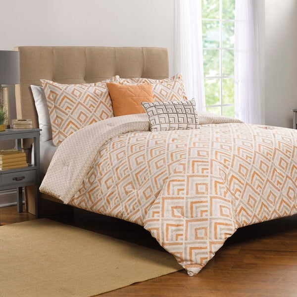 Shop WestPoint Home Syrie Orange Comforter Set - On Sale - Free Shipping  Today - Overstock - 22808710 ebb4afefb9e2