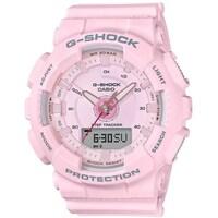 e7a68c493 Shop Casio Women's 'Baby-G' Analog-Digital White Resin Watch - Rose ...