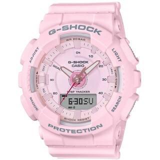 Casio GMAS130-4A G-Shock S Series Pedometer Analog-Digital Watch(Pink)