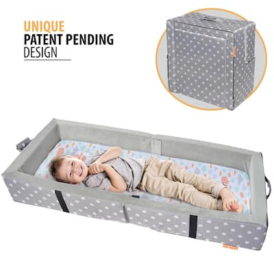 """Milliard Portable Toddler Bumper Bed - Folds for Travel - gray - 48"""" x 20"""""""