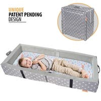"Milliard Portable Toddler Bumper Bed - Folds for Travel - gray - 48"" x 20"""