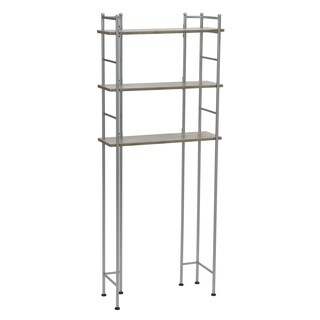 Household Essentials Over-the-Toilet 3 Shelf Rack, Concrete