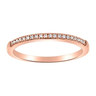 14K Rose Gold 1 14ct TDW Diamond Classic Anniversary Band Ring By Beverly Hills Charm White H I
