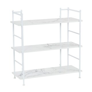 Household Essentials Wide 3-Shelf Rack, Marble