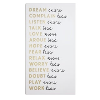 How Life Should Be Transitional Wall Art - Black/White