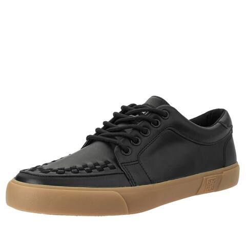 Black Leather No-Ring VLK Sneaker