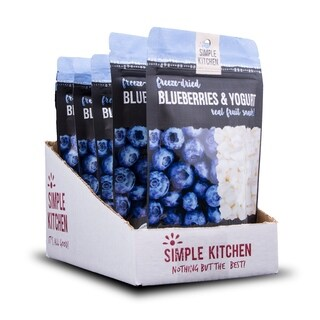 Simple Kitchen Freeze-Dried Blueberries & Yogurt - 6 Pack
