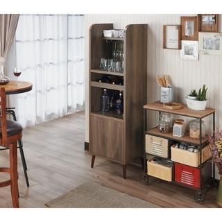 Carson Carrington Frasta Distressed Walnut Freestanding Mini Bar