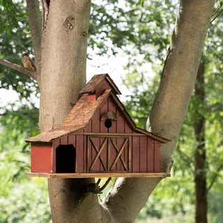 "Glitzhome 20.67""L Oversized Rustic Wood Barn Birdhouse"