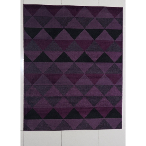 Rug Ty Abstract Modern Contemporary Purple 7 X27 11 X9