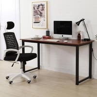 Wood Office Study Rectangular Dining Table Computer Desk Brown 2 Sizes