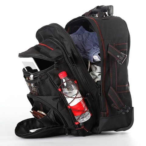 20inch Large Capacity Shoulder Bag Backpack Luggage Suitcase Wheel Trolley Bag
