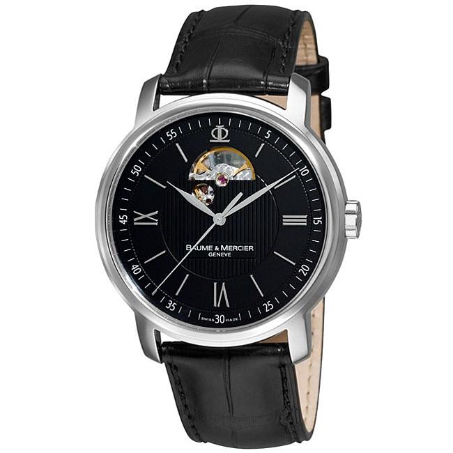 Shop Baume U0026 Mercier Classima Black Open Dial Watch   Free Shipping Today    Overstock.com   2281382