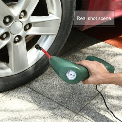 Handheld Portable Air Compressor Auto Tire Inflator Pump Car Emergency Tool