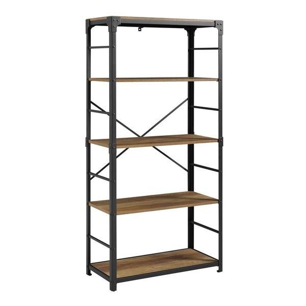 WE Furniture 64 Industrial Urban Design Angle Iron Bookshelf