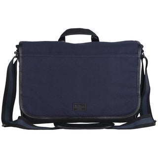 Ben Sherman Cotton Canvas Flapover Casual Travel Messenger / Tablet Bag
