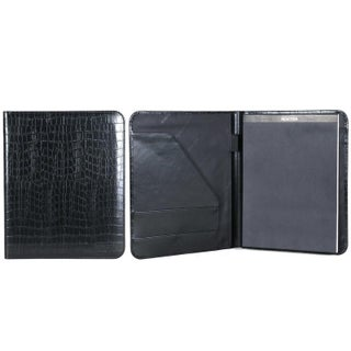 Kenneth Cole Reaction Croco Faux Leather Open Style Bifold Writing Pad