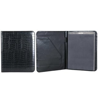 Kenneth Cole Reaction Croco Faux Leather Open Style Bifold Writing Pad - N/A