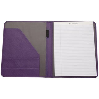 Ben Sherman Faux Saffiano Leather Open Style Bifold Writing Pad - N/A