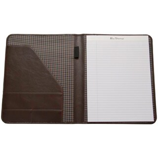 Ben Sherman Faux Saffiano Leather Open Style Bifold Writing Pad