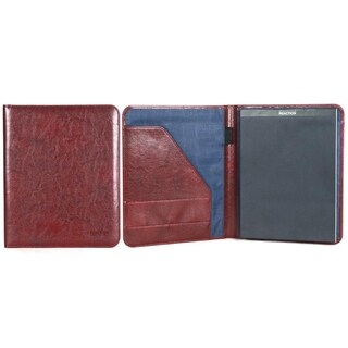 Kenneth Cole Reaction Faux Leather Open Style Bifold Business Writing Pad - N/A