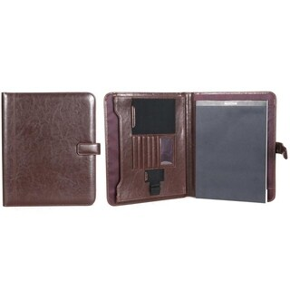 Kenneth Cole Reaction Faux Leather Open Style Lefty/Righty Bifold Writing Pad With Magnetic Snap Closure